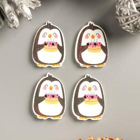 """Button ornamental tree """"Penguin cake"""" 2x2,9 cm packing 10 PCs"""