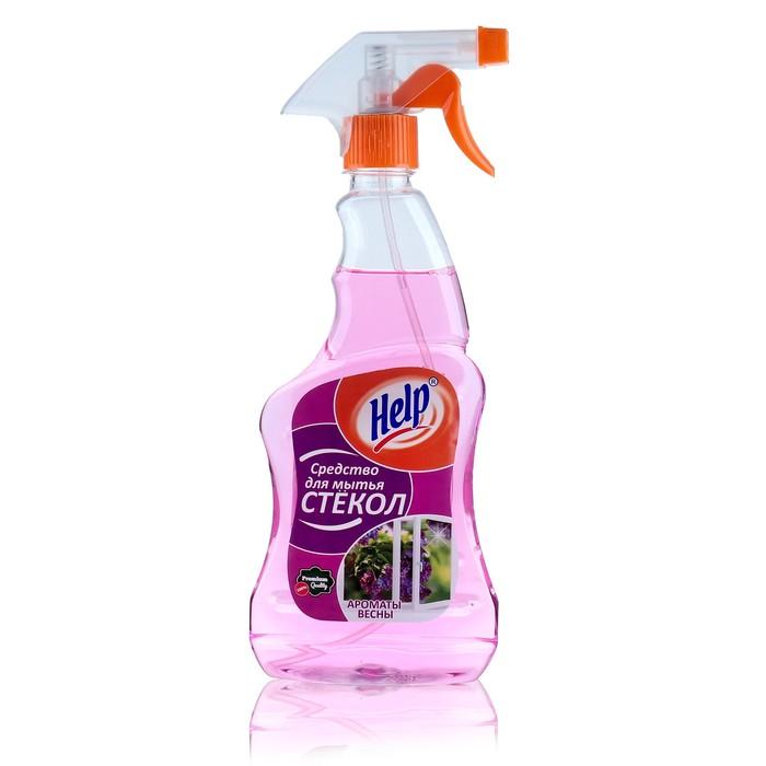 """Средство для мытья стекол Help """"Аромат весны"""" с распылителем, 0,5 л"""