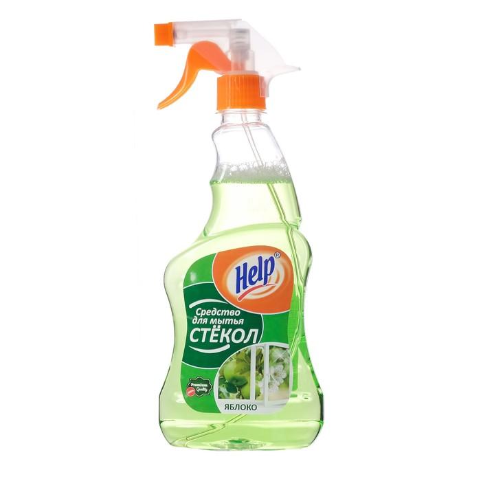 """Средство для мытья стекол Help """"Яблоко"""" с распылителем, 0,5 л"""