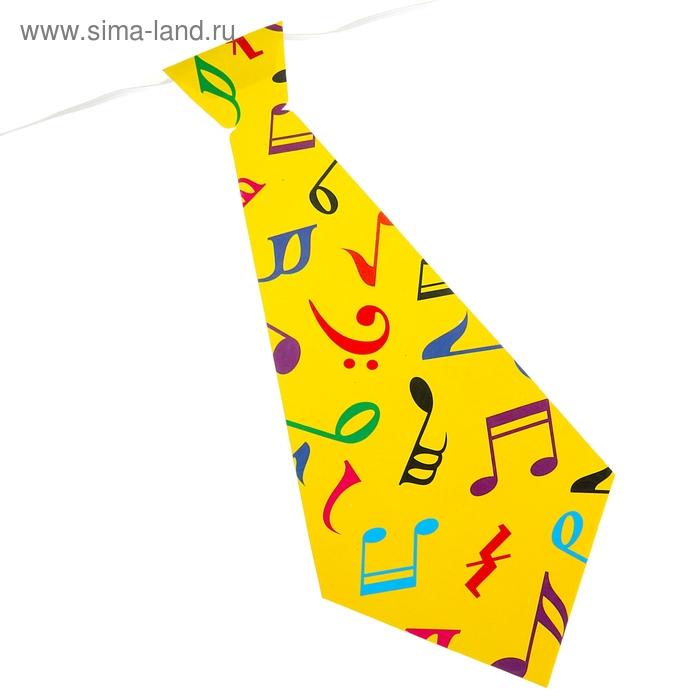 """Карнавальный галстук """"Ноты"""", набор 6 шт."""