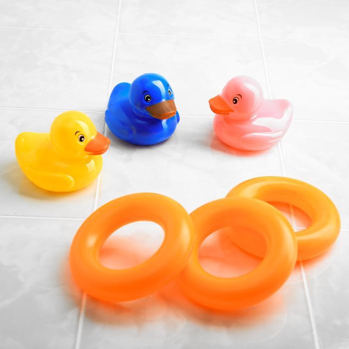 Игрушка для игры в ванной «Утёнок с кругом », 3 шт.