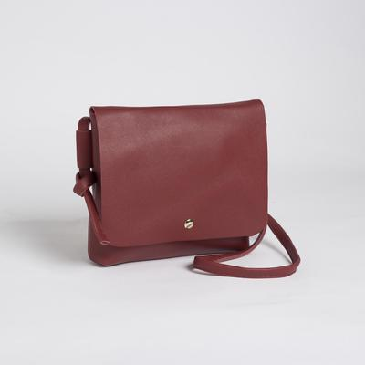 Bag, Department, with zipper, long strap, color red