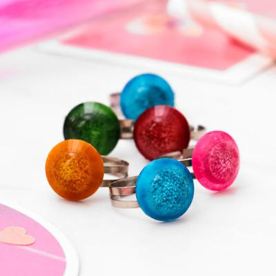 """Ring baby """"Vibracula"""" space, round, MIX color, dimensionless"""