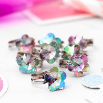 "Ring baby ""Vibracula"" edinorossy flower, color rainbow, dimensionless"