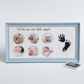 Plastic photo frame for 6 photos 5.5x5.5 cm from the Europ.the pillow