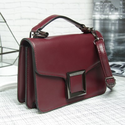 Bag, 2 Department magnet, adjustable strap, color aubergine