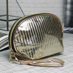 Cosmetic bag-handbag Department with zipper, with handle, color gold