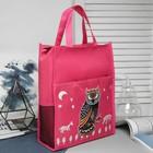 Сумка для обуви, отдел на молнии, 3 наружных кармана, цвет розовый