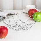 Ваза для фруктов, 27,5х7,5 см, хром