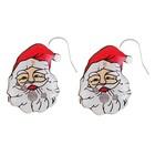 """Новогодние серьги """"Дедушка Мороз"""" с подсветкой, набор 2 шт."""