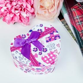 Коробка подарочная в форме сердца сердце 10 х 11 х 5,5 см МИКС в Донецке