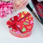 Коробка подарочная сердце 10 х 11 х 5,5 см МИКС
