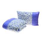 Комплект Миродель: одеяло 145*205 ± 5 см/подушка 50*70см, холофан, п/э, чехол цвета МИКС