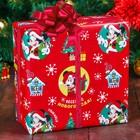 Бумага упаковочная глянцевая «Весёлого Нового года!», Микки Маус и друзья, 70 х 100 см