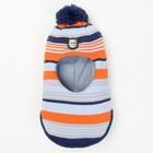 Балаклава зимняя для мальчика, размер 44-46, оранж