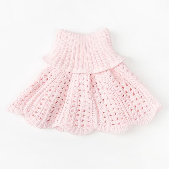 Шарф-манишка для девочки, размер 2-4 года, цвет розовый