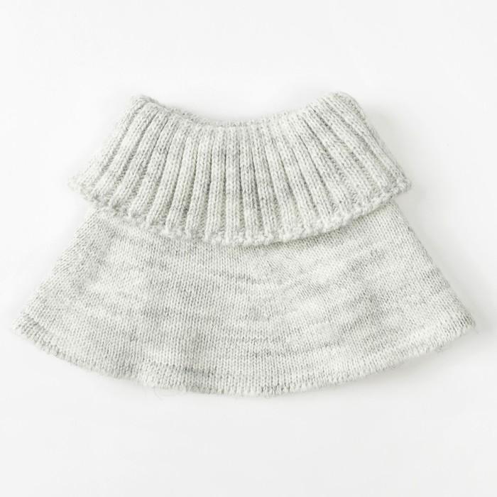 Шарф-манишка для мальчика, 5-8 лет, цвет серый - фото 105567971