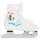Коньки детские MAGIC, белый цвет, размер 34