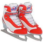 Коньки фигурные Молодежка MFS, цвет красный, размер 35