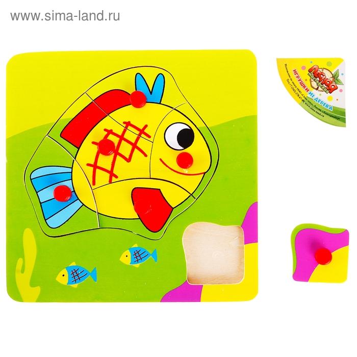"""Рамка - вкладыш """"Весёлая рыбка"""", 6 элементов"""
