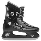 Коньки хоккейные LEADER, цвет чёрный, размер 44