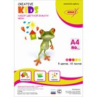 Бумага цветная А4, 10 листов 5 цветов Creative Kids. Неон. 75 г/м2