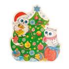 "Poster die cut ""Christmas owls"" 25,3х23 cm"