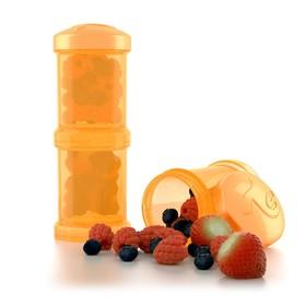 Контейнер для сухой смеси Twistshake, цвет оранжевый, 100 мл, 2 шт.