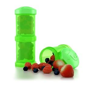 Контейнер для сухой смеси Twistshake, цвет зелёный, 100 мл, 2 шт.