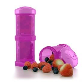 Контейнер для сухой смеси Twistshake, цвет фиолетовый, 100 мл, 2 шт.