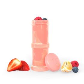 Контейнер для сухой смеси Twistshake, цвет пастельный персиковый, 100 мл, 2 шт.