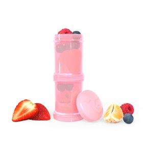 Контейнер для сухой смеси Twistshake, цвет пастельный розовый, 100 мл, 2 шт.