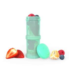 Контейнер для сухой смеси Twistshake, цвет пастельный зелёный, 100 мл, 2 шт.