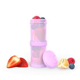Контейнер для сухой смеси Twistshake, цвет пастельный фиолетовый, 100 мл, 2 шт.