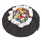 Игровой коврик - мешок для хранения игрушек 2 в 1 Play&Go, коллекция Classic, цвет чёрный