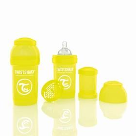 Бутылочка антиколиковая для кормления, 180 мл, от 0 месяцев, цвет жёлтый + контейнер для сухой смеси