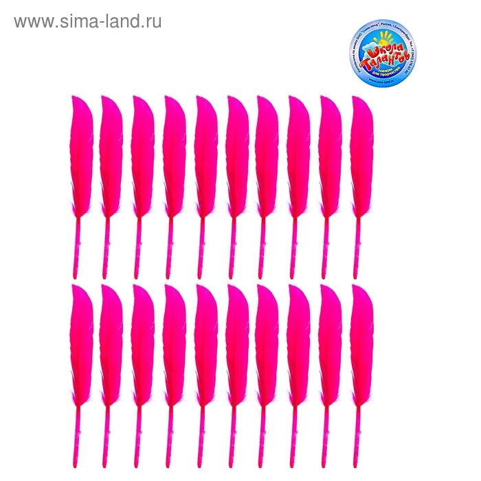 Набор перьев для декора (набор 20 шт), размер 1 шт 12*1,5*0,1 цвет розовый