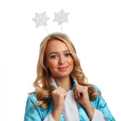 """Карнавальный ободок """"Две снежинки"""", поролон"""
