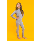 Комплект для девочки 1250 (термобелье), серый меланж, рост 134-140