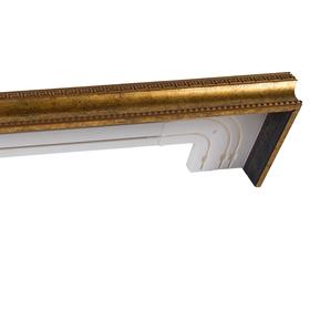 Карниз трёхрядный 300 см, цвет старое золото