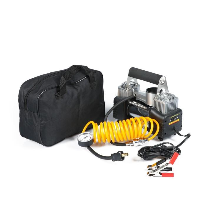 Компрессор автомобильный в сумке 12В, 70 л/мин, 220W, серебристый