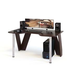 Компьютерный стол, 1500 × 900 × 750 мм, цвет венге