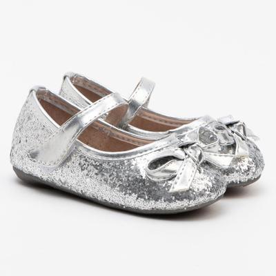 Туфли для девочки 189-32 MINAKU серебро, р. 19