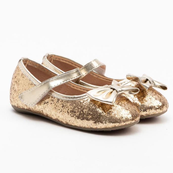 Туфли детские MINAKU, цвет золото, размер 19