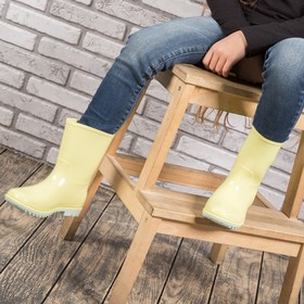 Сапоги детские MINAKU, цвет жёлтый, размер 26/27 (17 см)