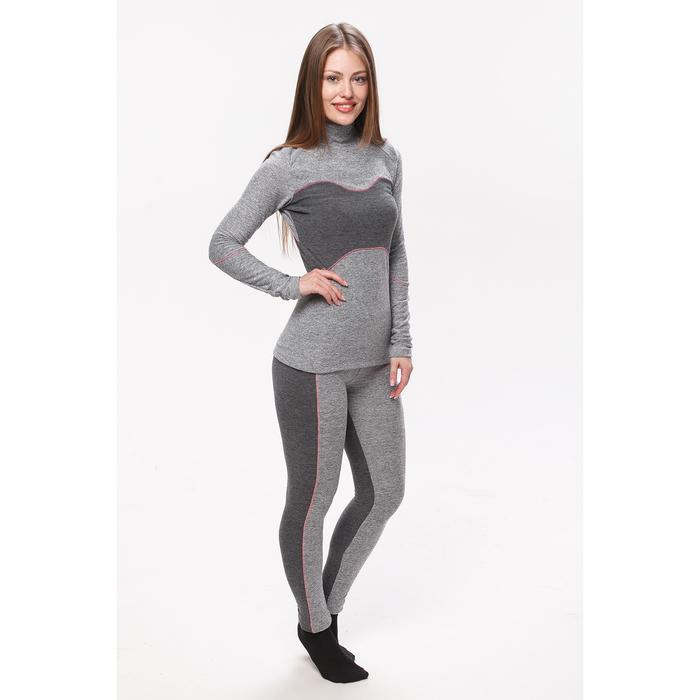 Комплект женский термо (джемпер, лосины), цвет серый меланж, размер 42