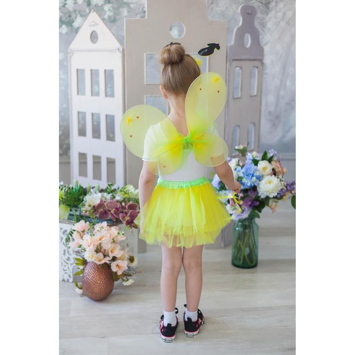 """Карнавальный набор """"Груша"""", 4 предмета: ободок, жезл, крылья, юбка, 3-4 года"""
