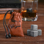 """The whisky stones are a """"Real man"""", 4 PCs."""