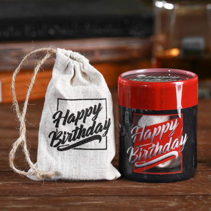 "Камни для виски ""С днём рождения"", 4 шт."