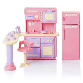 Кухня «Маленькая принцесса», цвет розовый
